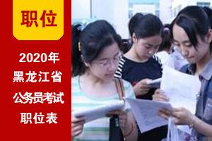 2020年黑龙江省考招录职位表