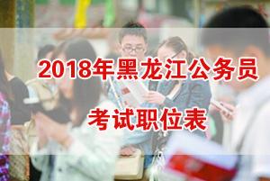 2018年黑龙江公务员考试职位表
