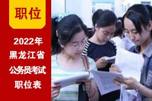 2022年黑龙江省考招录职位表